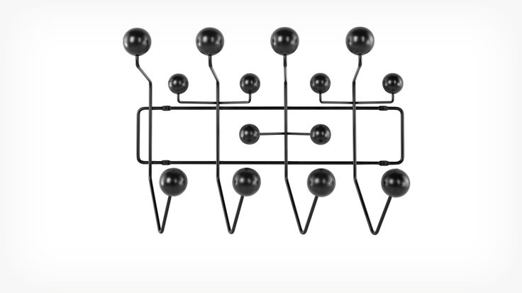 eames hang it all black front