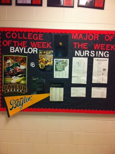 Great idea for Creating a College-Going Culture - have kids do the research as an ongoing project. New groups each week, or bi-weekly? They could make a poster to pin up.