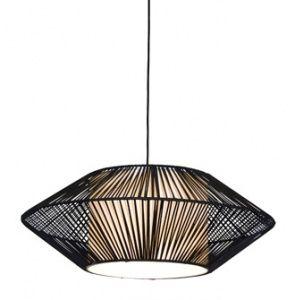 AVILA - Black Rattan Pendants - Select Lighting