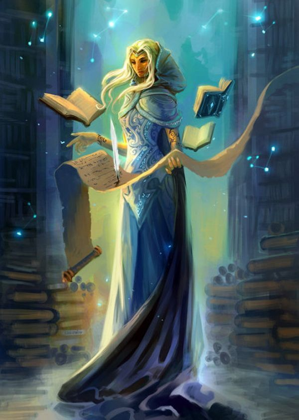 1. The Sorceress. The Sorceress Clio. Rules over her library and is older than Time. Has been in the valley since the first humans came there.
