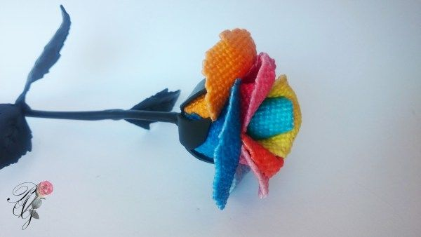 Multicolor needlepoint Rose | Percsi Art Needlepoint