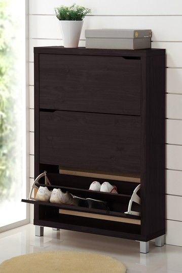 Simms Modern 3 Drawer Shoe Cabinet
