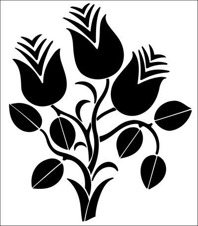 Motif No 88 stencil from The Stencil Library online catalogue. Buy stencils online. Stencil code DE339.