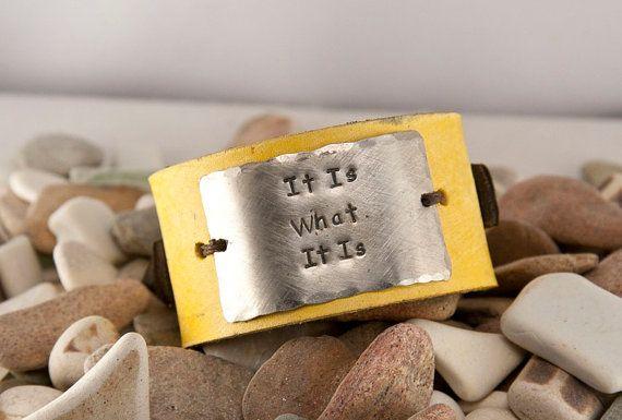 it is what it is leather bracelet