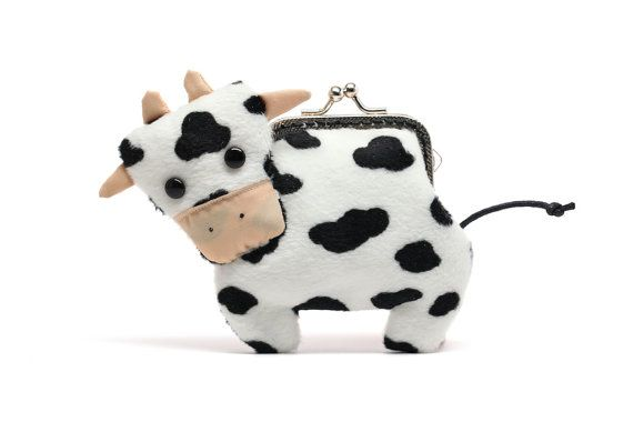 Little dairy cow clutch purse by misala on Etsy, $29.90