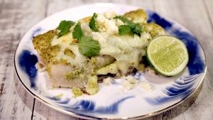 Green Chile Chicken Enchiladas Recipe | The Chew - ABC.com