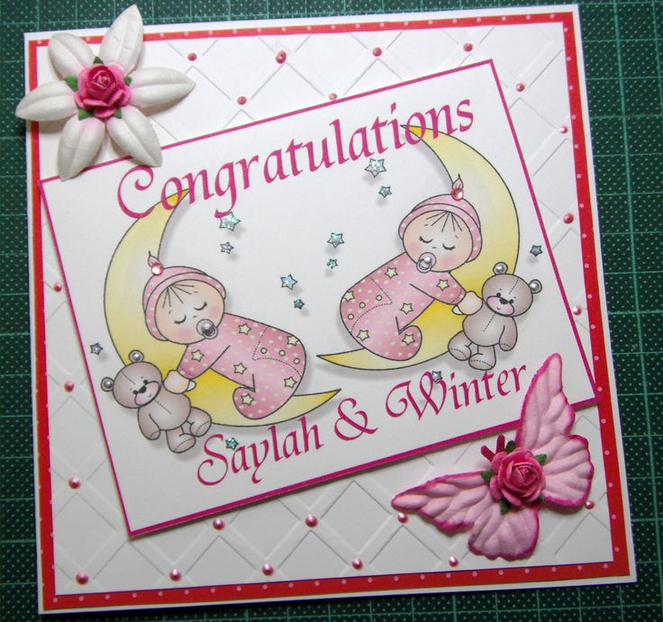 Sharing a card for twin girls