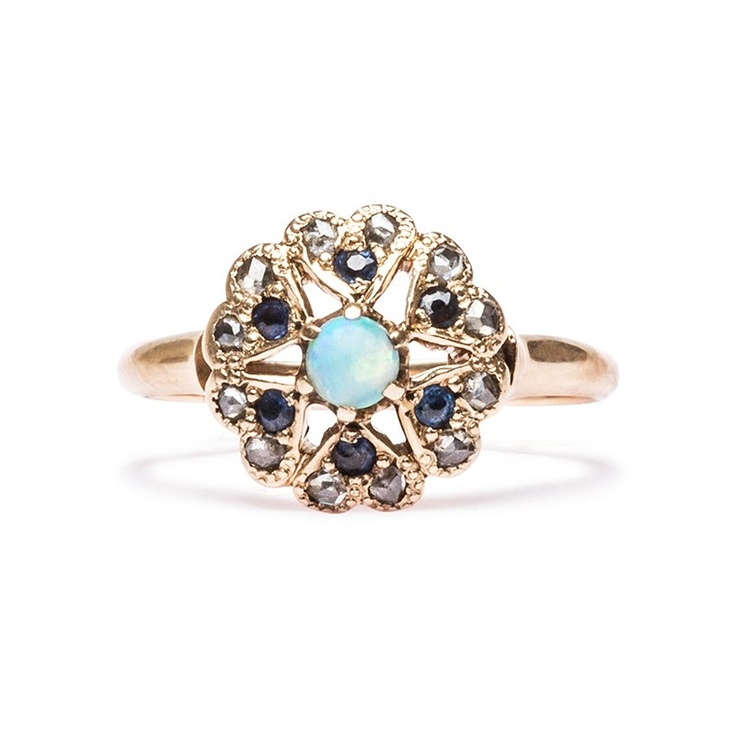 Vintage Opal Ring | Victorian Opal Ring from Trumpet & Horn