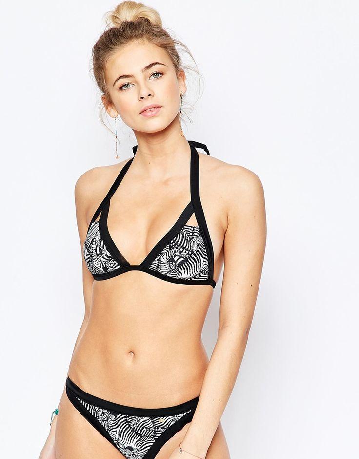 Image 1 ofTed Baker Zebra Puzzle Cut Out Bikini Top