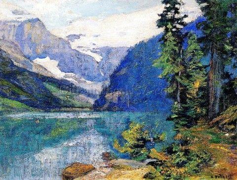Lake Louise, Edward Potthast   Oil Paintings