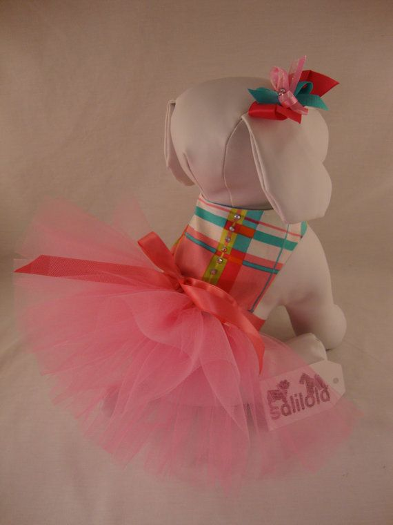 Preppy Party - Reversible Dog Tutu Dress. Who doesn't love a pink tutu?