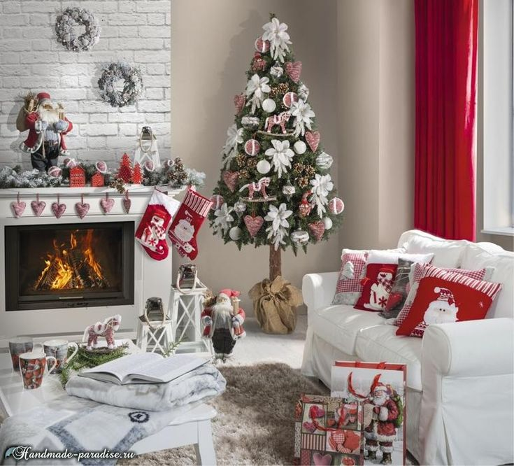 Рождественский дизайн интерьера. 20 фото (1)