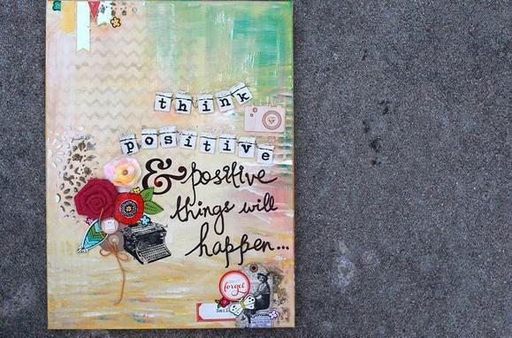Mixed Media Wall Art Ideas www.fiskars.com