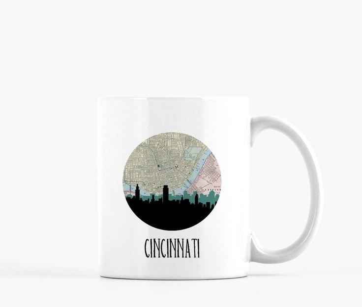 Cincinnati Skyline Ceramic Mug