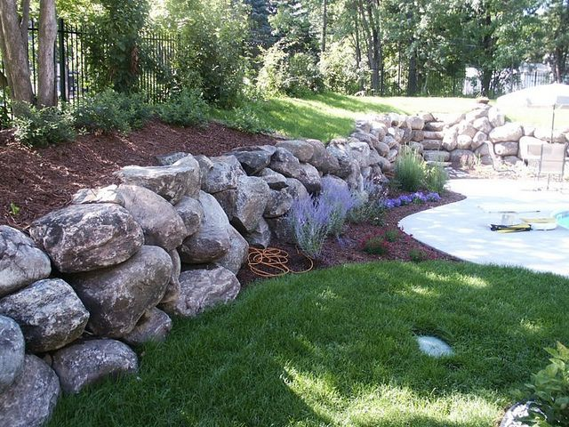 98 best Boulder Walls images on Pinterest Backyard ideas Garden