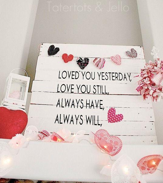Valentine's Day Pallet Art