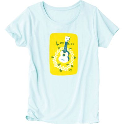 LeaLea Ukulele 爽やかな色味のレディースTシャツを作ってみました☆ 夏にぴったり〜♪アロハでポロロン♪