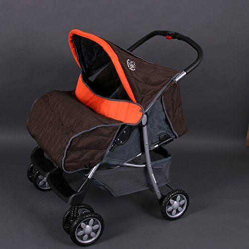 Lujoso tandem-cochecito para gemelos naranja - BambinoWorld  #carricochesbebe