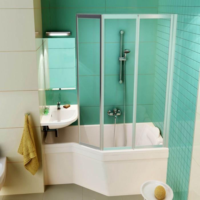 exemple de petite baignoire d angle avec douche mod le. Black Bedroom Furniture Sets. Home Design Ideas