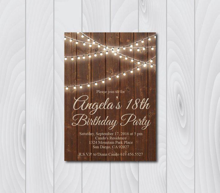 80 best Birthday images on Pinterest Birthday invitation - free 18th birthday invitation templates