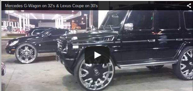 Mercedes G-Wagon on 32's & Lexus Coupe on 30's - Big Rims - Custom Wheels