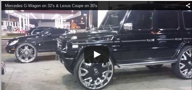 Mercedes G-Wagon on 32's & Lexus Coupe on 30's - Big Rims - Custom Wheels
