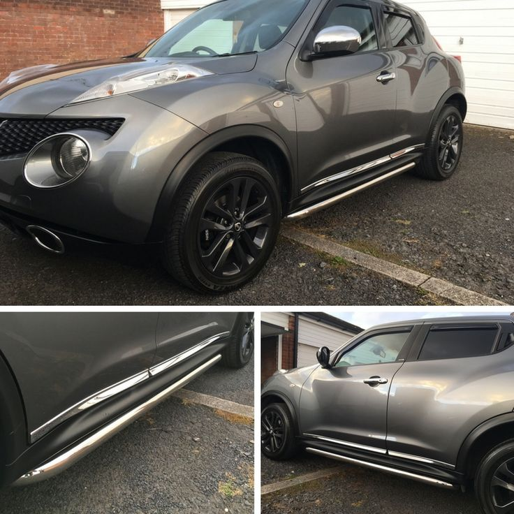 Roger has some side bars for his Nissan Juke from us recently.  They look great along with the wheels too.  We have black sports tubes too which would have looked just as good im sure.  #Nissan #Juke #SportsTubes #SideBars #SideSteps #HappyCustomer #GreatFeedback