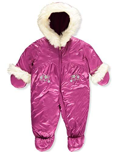2b9a29b5c471 Buy London Fog Baby Girls Sweet Quilted Faux-Fur Trimmed Snowsuit ...