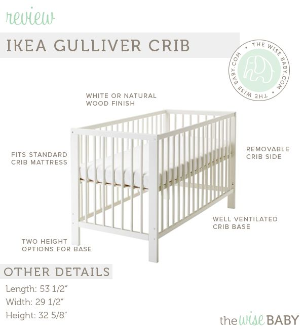 Made of real hardwood, non-toxic, no-frills, and great price.  IKEA Gulliver Crib Review • The Wise Baby