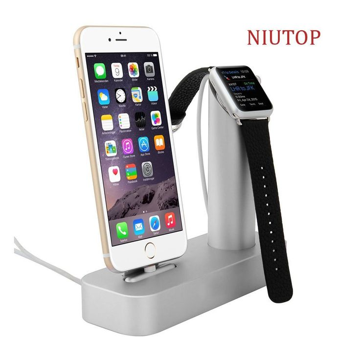 Amazon.es: Niutop Apple Watch Stand & iPhone Stand, Premium [2 in 1] Apple Watch Iphone [Charging Dock] Solid Aluminum Body Desk Charge Charging Station, Apple Watch Charge Charging Stand Cradle Holder for Apple Iwatch 38mm/42mm, Comfortable Viewing Angle Charging Stand Holder for Iphone 6, Iphone 6 Plus, Iphone 5 5s 4s (Plata) - Electrónica