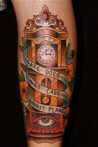 Grandfather clock tattoo | Tattoos | Pinterest
