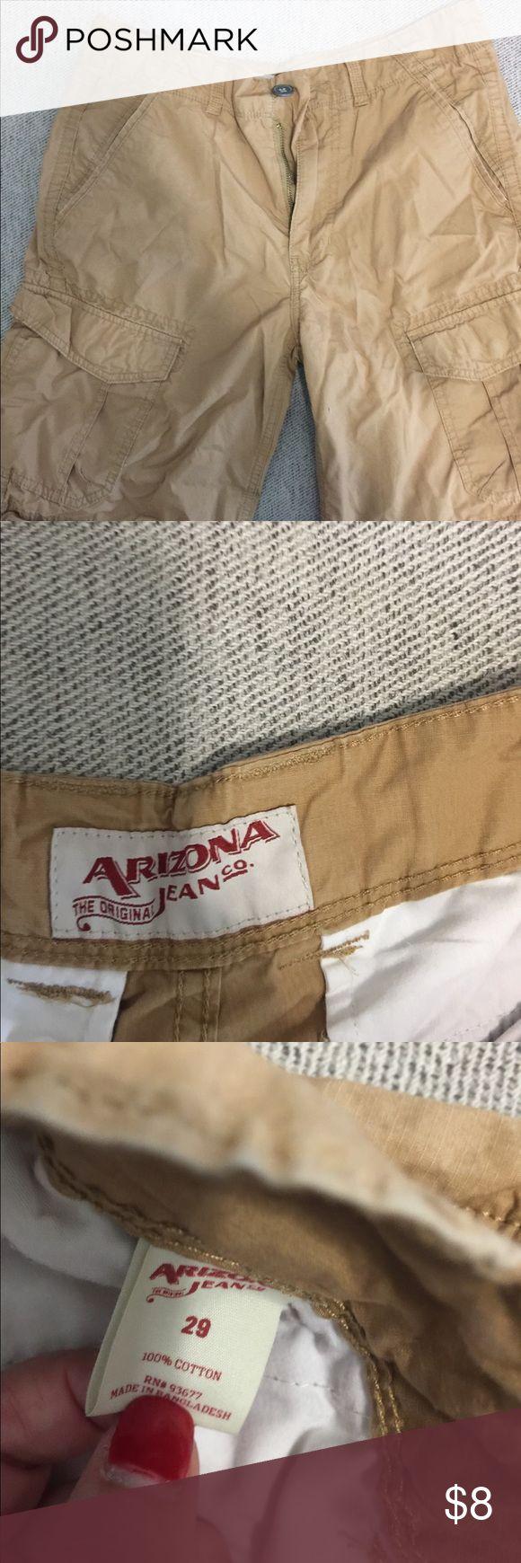 Men cargo shorts. Arizona jeans Arizona khaki color cargo shorts Arizona Jean Company Shorts Cargo