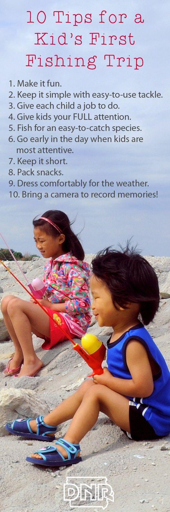 10 tips for taking kids on their first fishing trip! #kids #fishing