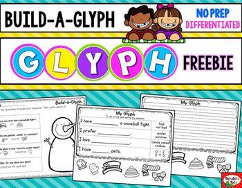 fun snowman glyph freebie: