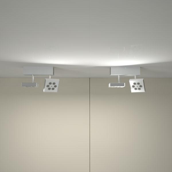ZEUS è un proiettore led ad alta luminosità, da soffitto o da parete: la sua estetica, particolarmente curata nei dettagli, ne rende adatto l'utilizzo per ogni tipo di applicazione.    L'utilizzo di uno snodo tecnico alla base del proiettore permette di orientarlo con facilità in ogni direzione.  Zeus è dispobile in versione da incasso,da fuori incasso e su binario.    La versione da fuori incasso permette di inserire l'alimentatore all'interno del sostegno, minimizzando l'ingombro.