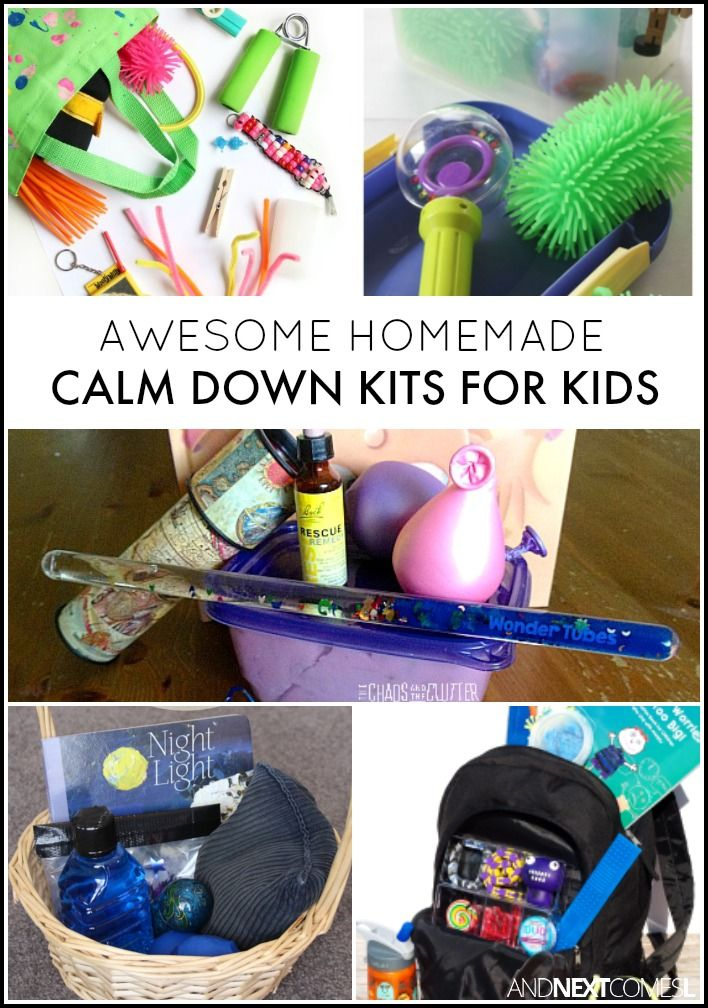 Homemade calm down kits for kids from And Next Comes L
