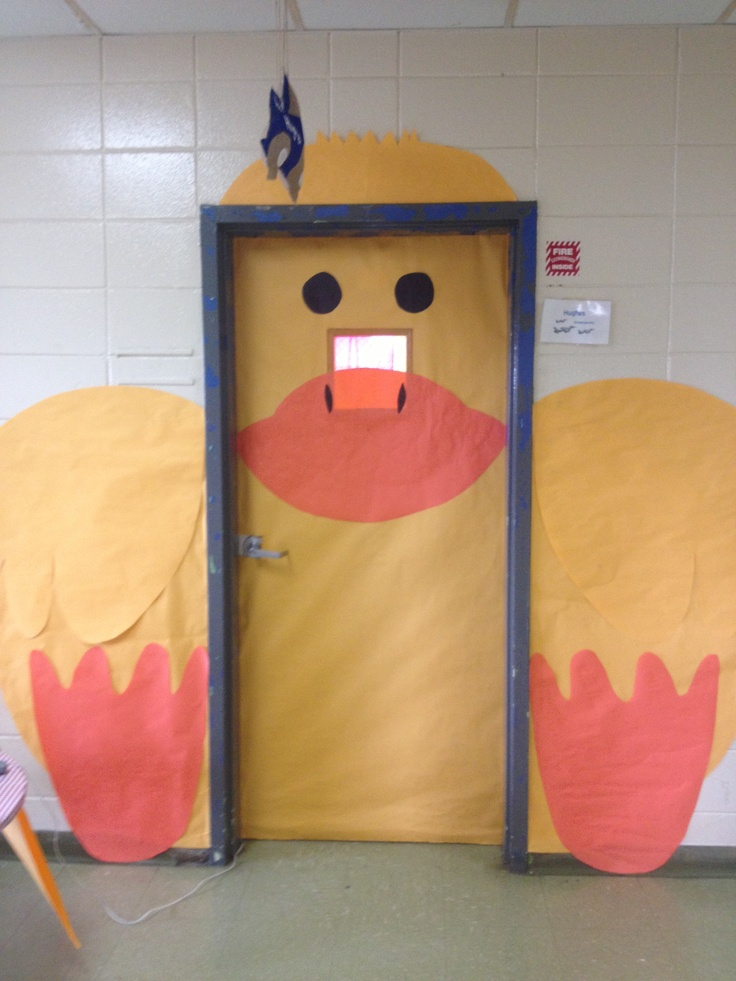 Classroom door decorated like a duck & 13 best Duck Classroom theme images on Pinterest | Classroom ideas ...