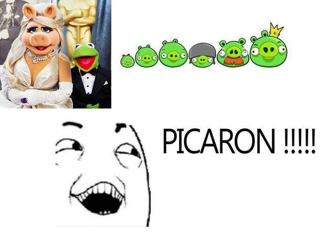 Ya se porque son verdes... #AngryBirds #humor en español.