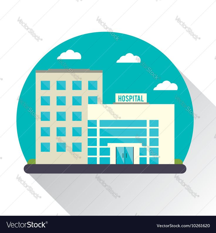 Hospital building clinic design Vector Image by jemastock