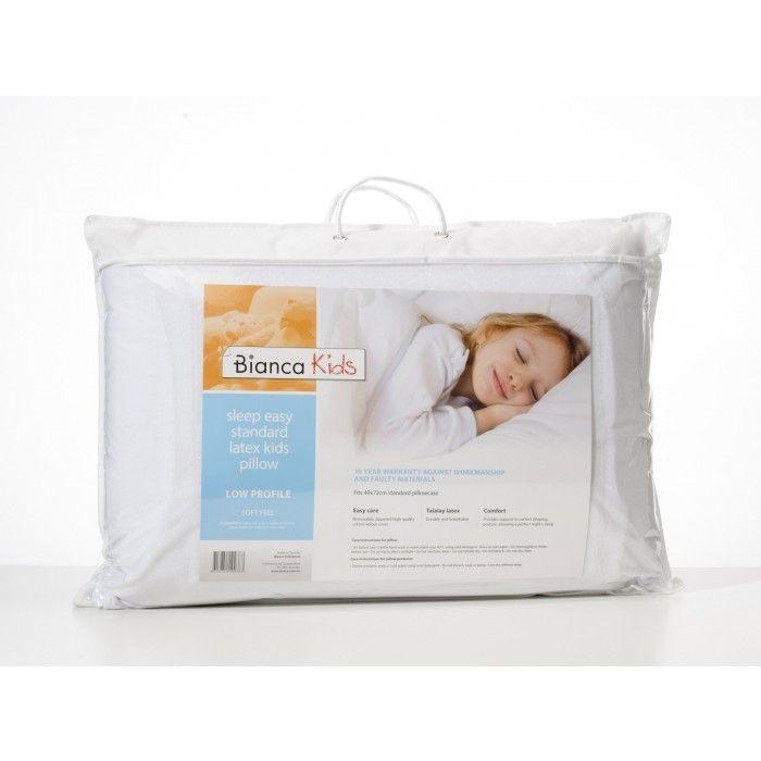 Sleep Easy Talalay Latex Kids Pillow Low / Soft by Bianca