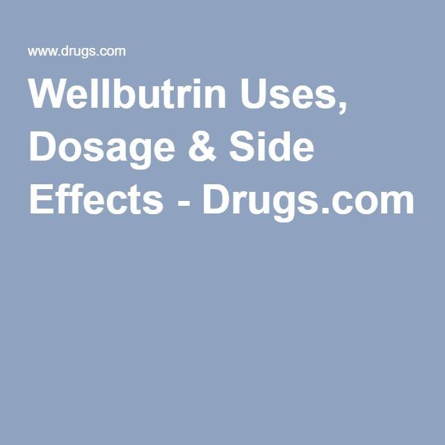Bupropion Side Effects