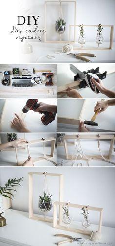 Cute DIY Plant display / Do it yourself Création cadres végétaux pas à pas