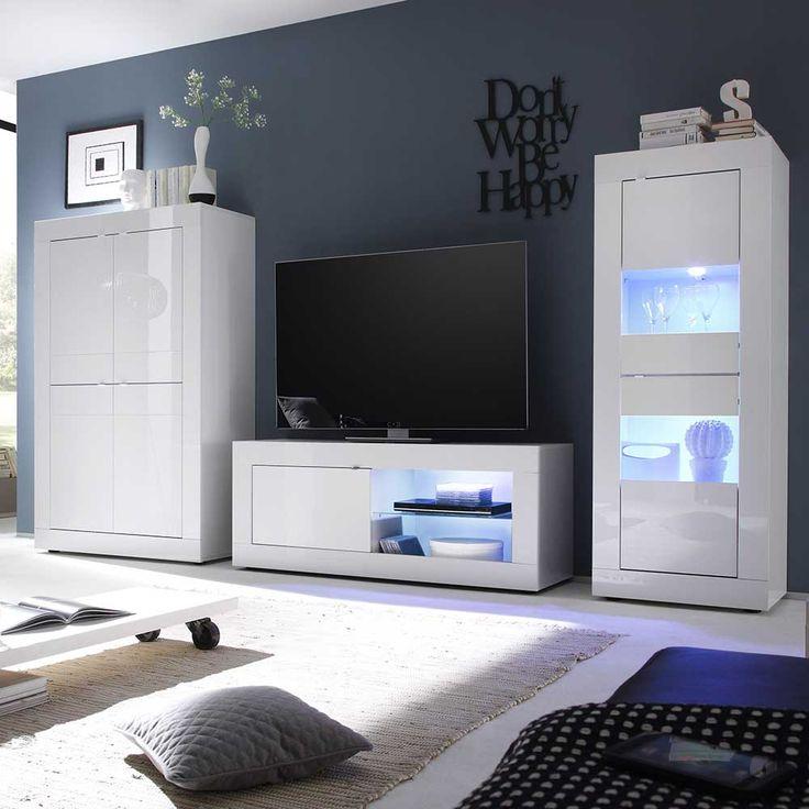 the 25+ best wohnwand hochglanz ideas on pinterest - Wohnzimmerschrank Modern Wohnzimmer