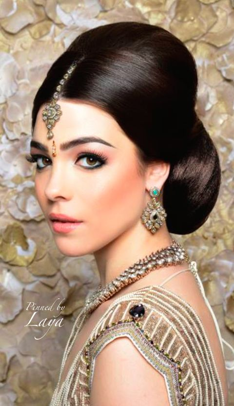 Asian Bridal Hairstyle : 18 best indian bridal makeup images on pinterest
