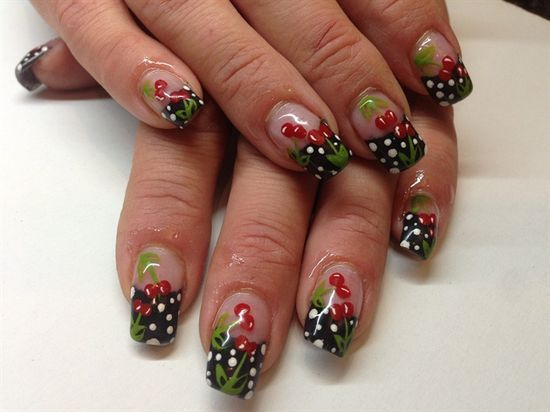 Cherries by jpotoma - Nail Art Gallery by Nails Magazine