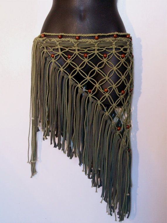 Festival skirt hip wrap pixie long skirt hippie skirt by LamaLuz, $45.00