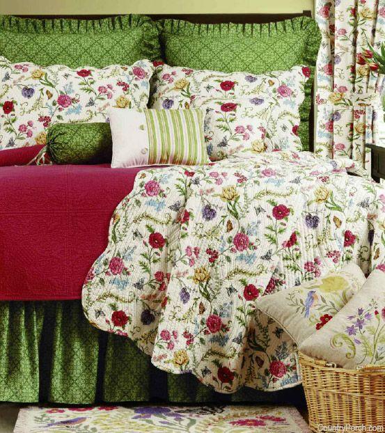 the embroidered garden quilt bedding ideas z