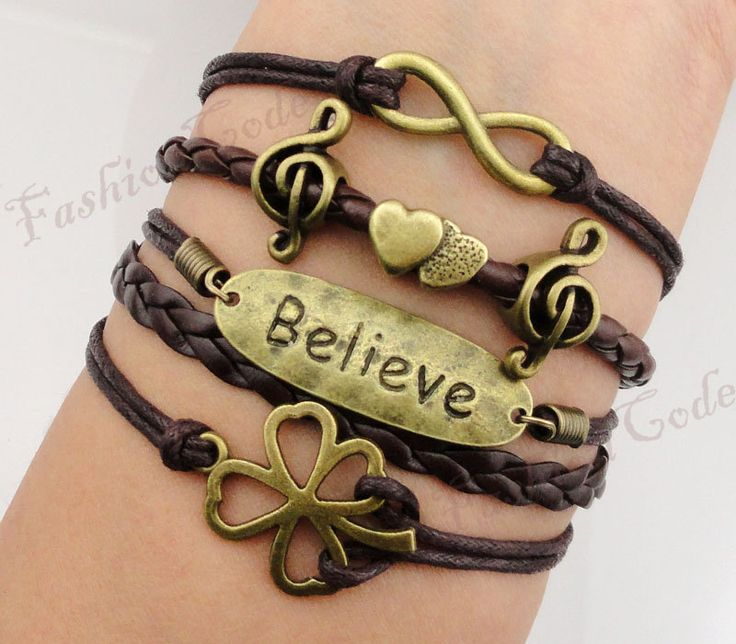 Infinity Believe Lucky Clover Music Note and by TheGiftoftheMagi, $8.99