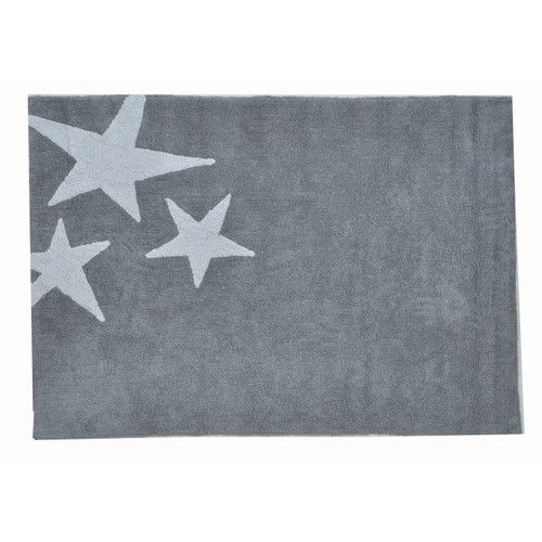 Lorena Canals Tres Estrellas Grey Children's Rug