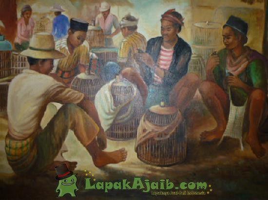 Lukisan `Pasar Burung` Karya Rustamadji